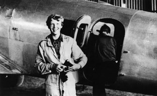 Amelia Earhart felt happiest around airplanes
