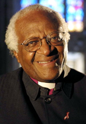 Archbishop Desmond Tutu with a characteristic loving smile