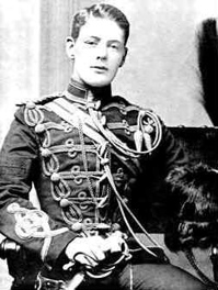 This dashing 1895 picture of Winston Churchill shows him at 20, in his Hussars uniform