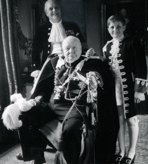 Grandad Churchill, his son Randolph and grandson Winston, resplendent in regalia for the June 2, 1953 coronation of Elizabeth II