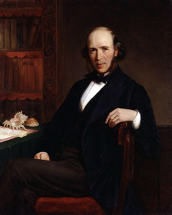 Painting of Herbert Spencer in the prime of life