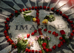 The Imagine mosaic memorial to John Lennon in Central Park, New York