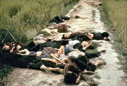 Dead bodies of civilians, including children, after the US massacre at My Lai