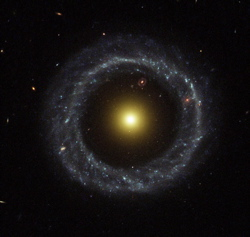 A ring galaxy in space