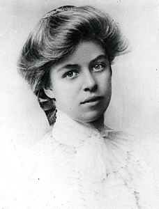 The young and lovely Eleanor Roosevelt
