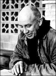 Thomas Merton enjoying reading