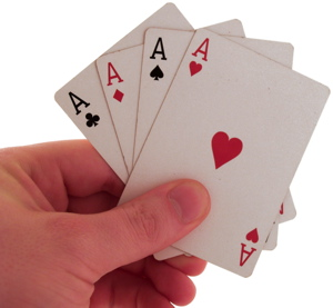 Maybe you hold all the aces...