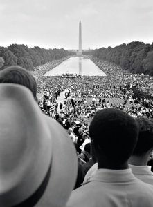 In 1963, hundreds of thousands of people gathered peacefully for change in Washington DC