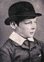 A young (age 9) Winston Churchill at school in 1884