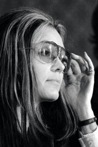 The young feminist, Gloria Steinem