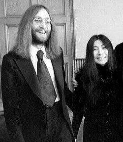 John Lennon and Yoko Ono soon after their 1969 marriage