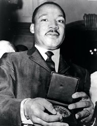 Martin Luther King with medallion