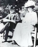 Churchill with the future Mrs. Clementine Churchill before their marriage in 1908